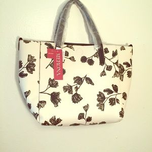 NWT Black and White Flower Handbag